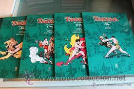 TARZAN EN COLOR DE HAROLD FOSTER COMPLETA EDICION GIGANTE DE LUJO 4 TOMOS DE 1931 A 1935 EDICIONES B (Tebeos y Comics - Ediciones B - Clásicos Españoles)