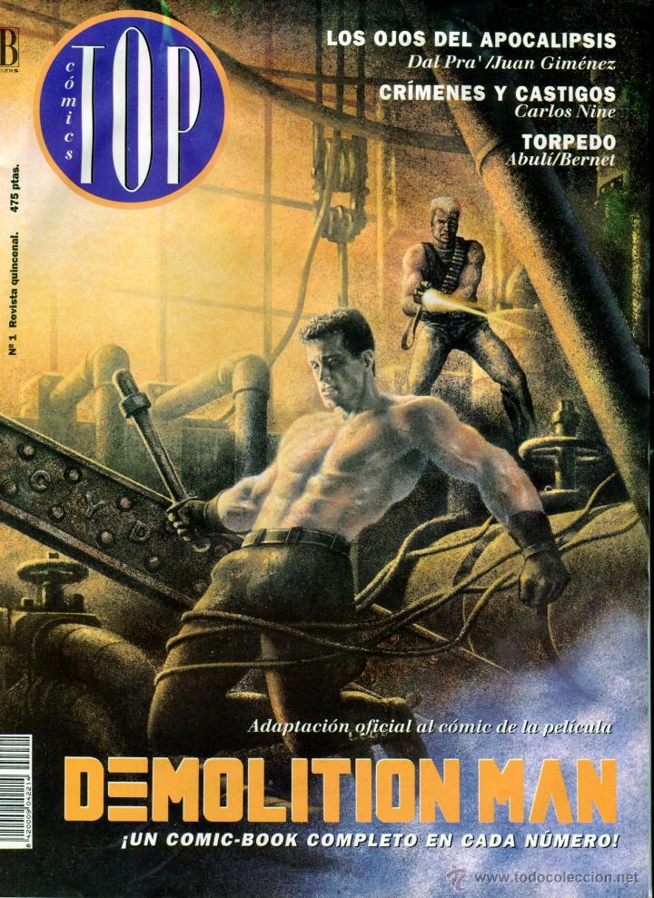 TOP COMICS Nº 1 DEMOLITION MAN ADAPTACION AL COMIC DE LA PELICULA AÑO 1994 BUEN ESTADO (Tebeos y Comics - Ediciones B - Otros)