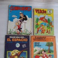 Cómics: CUATRO TEBEOS DE LOS AÑOS 70 Y 80, VIKIE EL VIKINGO, CONDORITO, ERASE UNA VEZ...EL ESPACIO, JACKY. Lote 48674961