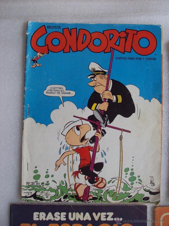 Cómics: CUATRO TEBEOS DE LOS AÑOS 70 Y 80, VIKIE EL VIKINGO, CONDORITO, ERASE UNA VEZ...EL ESPACIO, JACKY - Foto 2 - 48674961