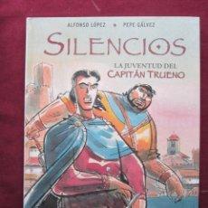 Cómics: SILENCIOS. LA JUVENTUD DEL CAPITÁN TRUENO. ALFONSO LÓPEZ Y PEPE GÁLVEZ HOMENAJE A VICTOR MORA NUEVO. Lote 49042576