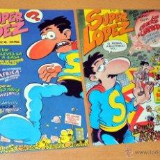 Cómics: LOTE DE 2 SUPER LÓPEZ DE EDICIONES B - SUPERLOPEZ - NÚMEROS: 49 Y 52 - AÑO 1989. Lote 49273498