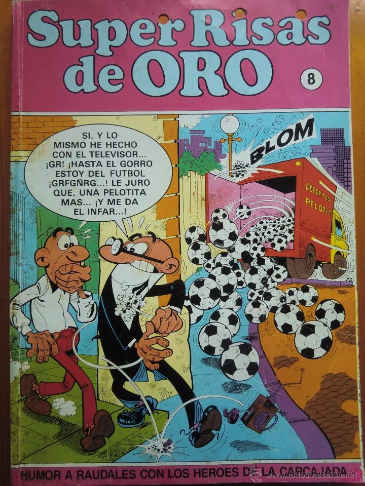 TEBEO COMIC SUPER RISAS DE ORO Nº 8: MORTADELO Y FILEMÓN, ZIPI Y ZAPE, SUPER LOPEZ (1987) (Tebeos y Comics - Ediciones B - Humor)
