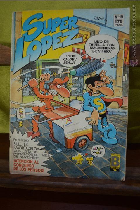 REVISTA SUPERLOPEZ 19 - JAN - EDICIONES B - CON BILLETES MORTADELO - SUPER LOPEZ (Tebeos y Comics - Ediciones B - Clásicos Españoles)