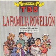 Comics : LOS ARCHIVOS DE TBO Nº 4. LA FAMILIA ROVELLÓN. TAPAS DURAS.. Lote 51454458