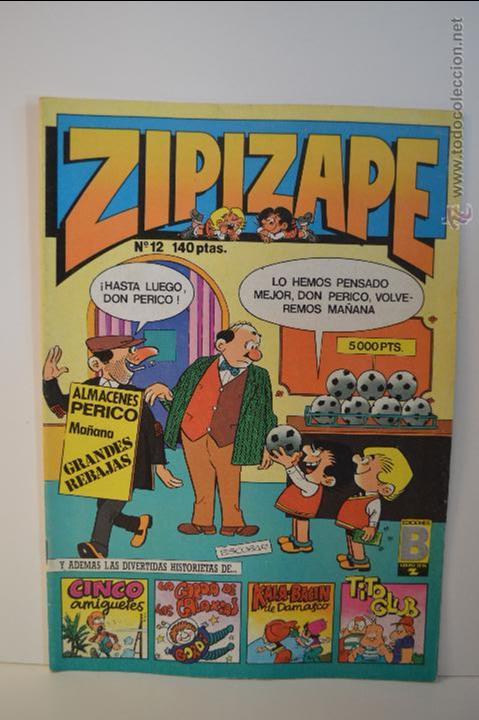 ZIPIZAPE 12 - EDICIONES B - ZIPI Y ZAPE - 1987 - ESCOBAR (Tebeos y Comics - Ediciones B - Clásicos Españoles)