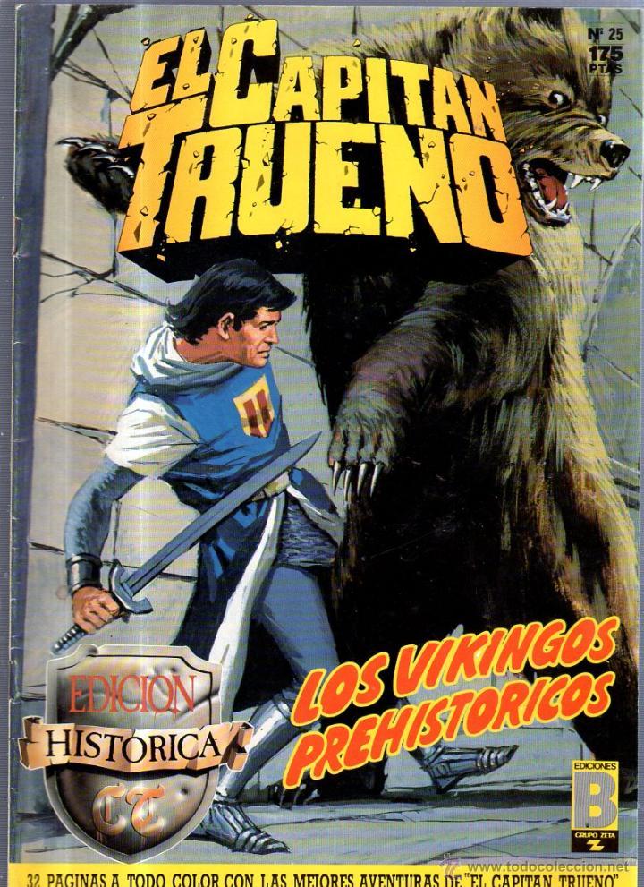 EL CAPITAN TRUENO. EDICIONES B. Nº 25. LOS VIKINGOS PREHISTORICOS (Tebeos y Comics - Ediciones B - Otros)