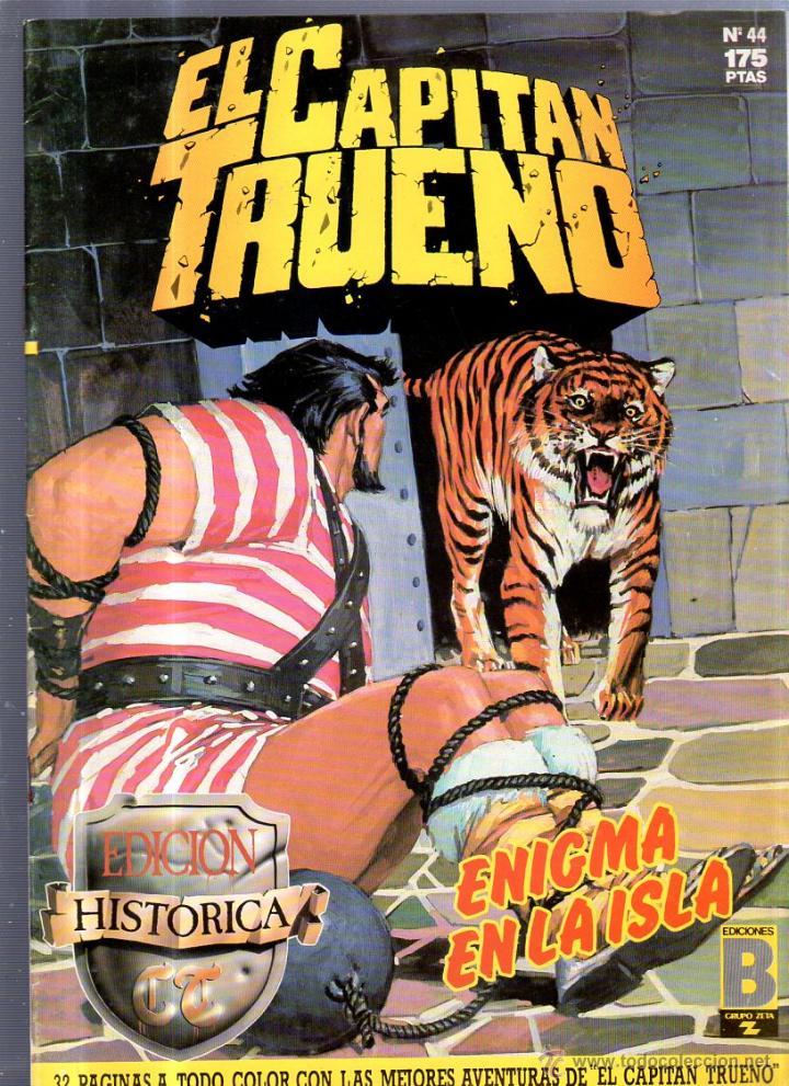 EL CAPITAN TRUENO. EDICIONES B. Nº 44. ENIGMA EN LA ISLA (Tebeos y Comics - Ediciones B - Otros)