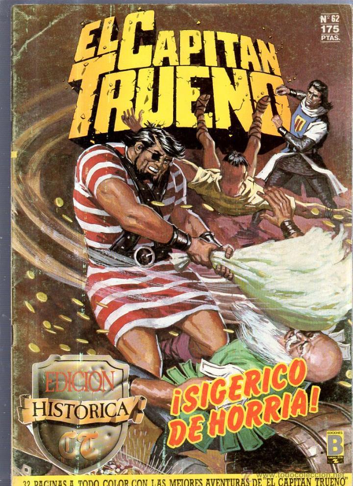 EL CAPITAN TRUENO. EDICIONES B. Nº 62. SIGERICO DE HORRIA (Tebeos y Comics - Ediciones B - Otros)