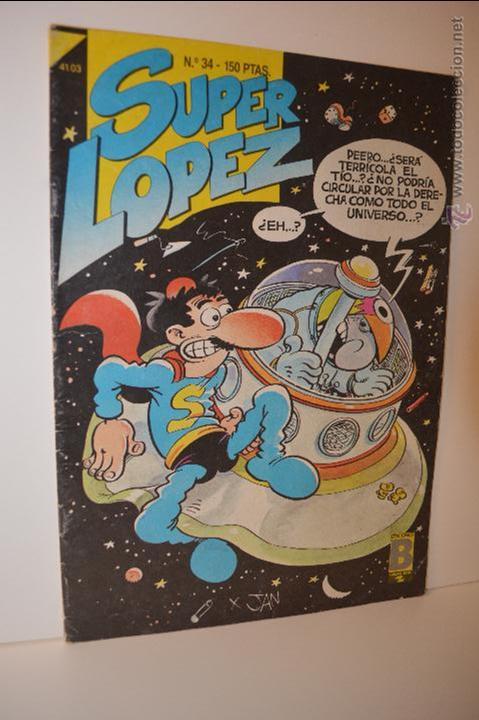 SUPERLOPEZ 34 - JAN - 1987 - EDICIONES B - SUPER LOPEZ (Tebeos y Comics - Ediciones B - Clásicos Españoles)