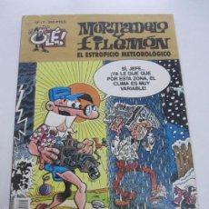 Cómics: MORTADELO Y FILEMÓN. EL ESTROPICIO METEOROLÓGICO- OLE Nº 19 EDICIONES B E6. Lote 55236067