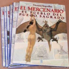 Cómics: EL MERCENARIO 1 2 3 4 5 6 - COMPLETA, B, 1993 - 34 X 25 CM APROX.- MUY BUEN ESTADO - Y SUELTOS. Lote 55948292