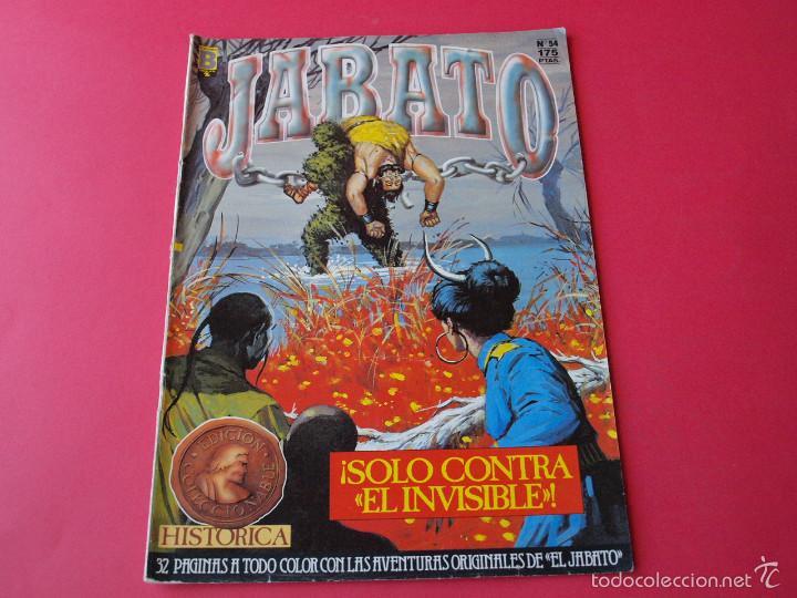JABATO NÚMERO 54 - ¡SÓLO CONTRA EL INVISIBLE! - EDICIÓN HISTÓRICA - EDICIONES B (Tebeos y Comics - Ediciones B - Clásicos Españoles)