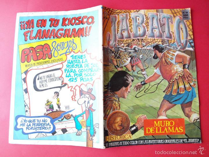 Cómics: JABATO NÚMERO 56 - MURO DE LLAMAS - EDICIÓN HISTÓRICA - EDICIONES B - Foto 3 - 57190141