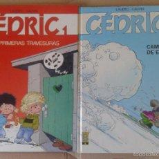 Cómics: LOTE DE ÁLBUMES CEDRIC, DE LAUDEC Y CAUVIN. INCLUYE LOS NÚMEROS 1 Y 2. EDICIONES B. Lote 57909597
