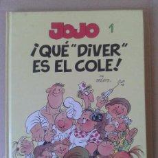 """Cómics: JOJO NÚMERO 1: ¡QUE """"DIVER"""" ES EL COLE!, POR GEERTS. EDICIONES B. ÁLBUM EN CARTONÉ.. Lote 57909637"""