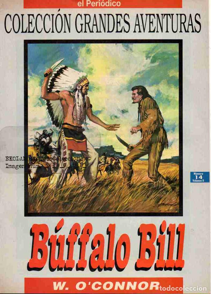 T10A BÚFALO BILL EKL COMICS GRANDES AVENTURAS, EL PERIODICO, EDICIONES B, COLECCIÓN ANTIGUAS JOYAS L (Tebeos y Comics - Ediciones B - Clásicos Españoles)