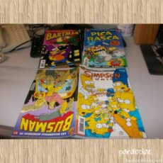Cómics: LOTE BART SIMPSON. PICA Y RASCA Nº 1. BARTMAN Nº 2. BUSMAN Nº 1 Y SIMPSON CÓMICS Nº 4. Lote 64811349