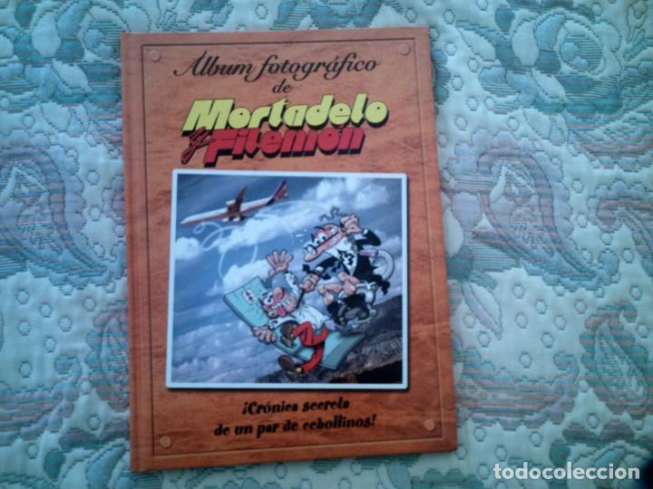 MORTADELO Y FILEMON. ALBUM FOTOGRAFICO ¡CRONICA SECRETA DE UN PAR DE CEBOLLINOS!, DE IBAÑEZ (Tebeos y Comics - Ediciones B - Humor)