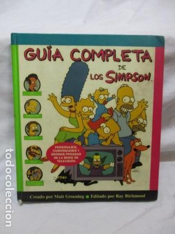 GUÍA COMPLETA DE LOS SIMPSON, EDICIONES B TAPA DURA (Tebeos y Comics - Ediciones B - Humor)