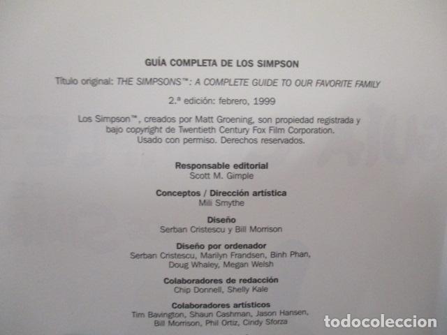 Cómics: GUÍA COMPLETA DE LOS SIMPSON, EDICIONES B TAPA DURA - Foto 7 - 68964857
