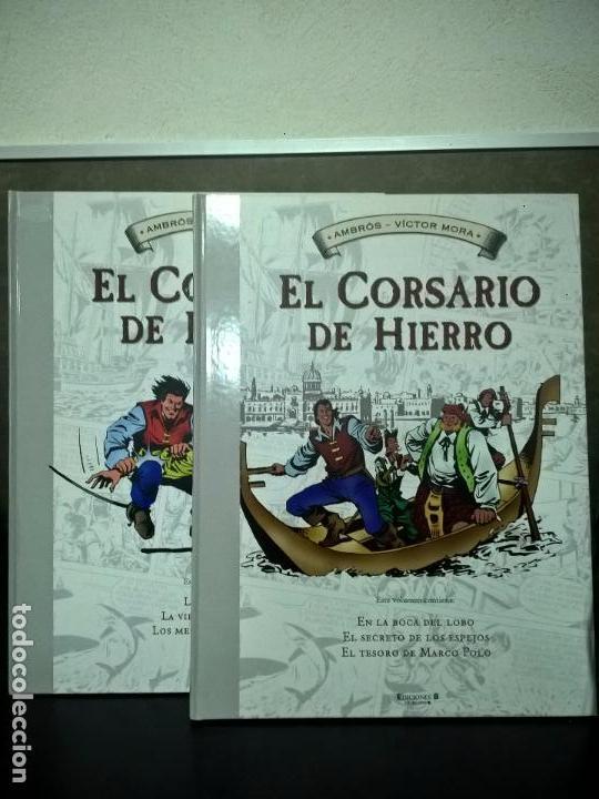 EL CORSARIO DE HIERO 2 TOMOS. AMBROS - VICTOR MORA. EDICIONES B 1ª EDICION ABRIL 2009. COMICS. (Tebeos y Comics - Ediciones B - Otros)