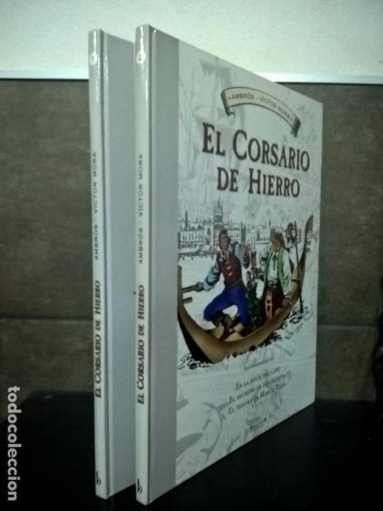 Cómics: EL CORSARIO DE HIERO 2 TOMOS. AMBROS - VICTOR MORA. EDICIONES B 1ª EDICION ABRIL 2009. COMICS. - Foto 2 - 69843345