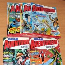 Cómics: GRAN AVENTURERO - COLECCIÓN COMPLETA - 12 CÓMICS - EDICIONES B - 1989 / 1990. Lote 74394151