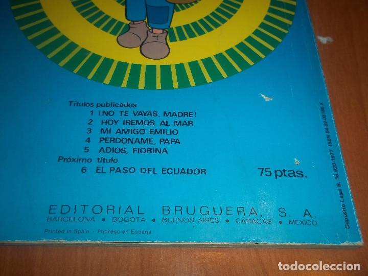 Cómics: MARCO DE LOS APENINOS A LOS ANDES SERIE TV Nº 5 ADIOS,FIORINA BRUGUERA 1977 - Foto 3 - 74408931
