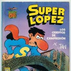 Cómics: COLECCIÓN OLÉ! - SUPERLÓPEZ SUPER LÓPEZ - LOS CERDITOS DE CAMPRODÓN - ED. B - SL 16 - 1ª ED. - 1990. Lote 75096551