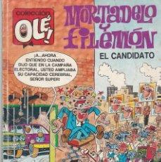Cómics: OLÉ MORTADELO Y FILEMÓN. EL CANDIDATO. Nº 367 (M 162). 1990. Lote 80811319