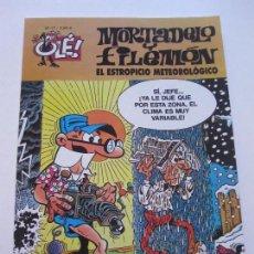 Cómics: MORTADELO Y FILEMÓN Nº. 17, -EL ESTROPICIO METEOROLÓGICO OLE EDICIONES B, E8. Lote 87137060