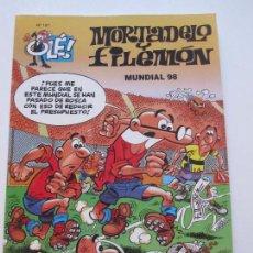Cómics: MORTADELO Y FILEMÓN Nº 137 COLECCIÓN OLE - MUNDIAL 1998 98 EDICIONES B IBAÑEZ E2. Lote 89566432