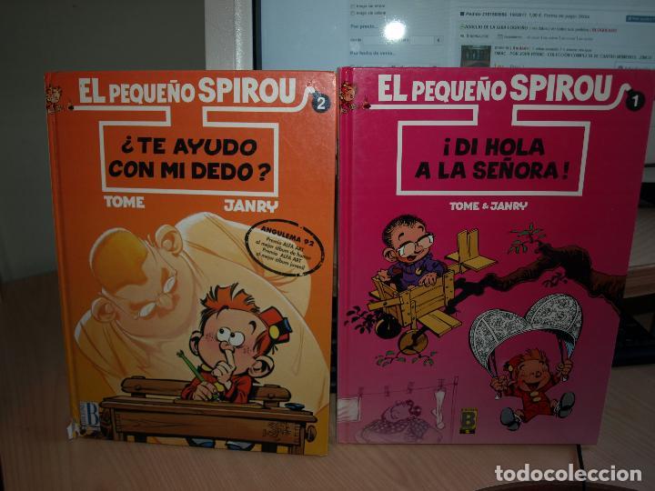 EL PEQUEÑO SPIROU - DOS NÚMEROS - TAPA DURA - EDICIONES B (Tebeos y Comics - Ediciones B - Humor)