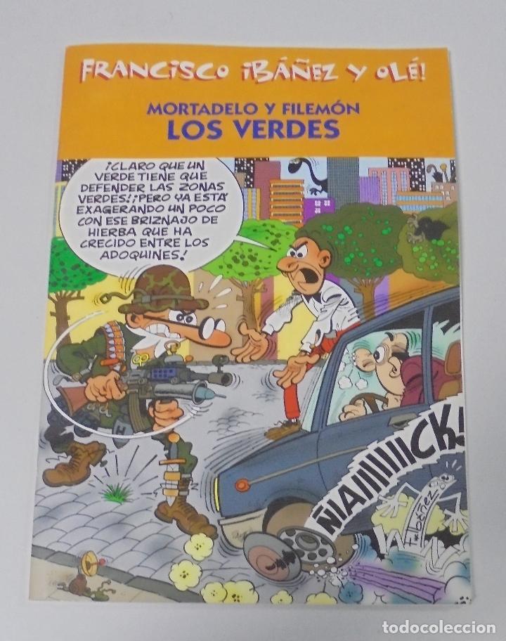 FRANCISCO IBAÑEZ Y OLE! MORTADELO Y FILEMON LOS VERDES. LOS DIEZ IMPRESCINDIBLES. 2001 (Tebeos y Comics - Ediciones B - Humor)
