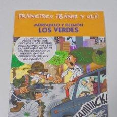 Cómics: FRANCISCO IBAÑEZ Y OLE! MORTADELO Y FILEMON LOS VERDES. LOS DIEZ IMPRESCINDIBLES. 2001. Lote 90406064