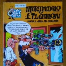 Cómics: OLÉ! MORTADELO Y FILEMÓN, N° 97 - CONTRA EL GANG DEL CHICHARRÓN - 2A EDICIÓN - EDICIONES B, 2000. Lote 90469474
