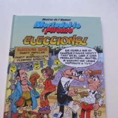 Cómics: MORTADEL·LO Y FILEMO MESTRES DE L'HUMOR N. 45: ELECCIONS! (CATALÀ) EDICIONES B E6. Lote 90531650