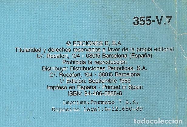 Cómics: LOS DESAHUCIADOS EN AMÉRICA Nº 355-V.7 - EDICIONES B 1ª EDICIÓN SEPTIEMBRE 1989 - Foto 2 - 93618225