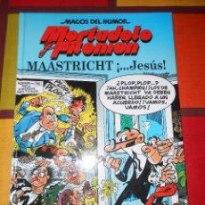 Cómics: MAGOS DEL HUMOR-MORTADELO Y FILEMON -MAASTRICHT ¡...JESÚS! -TAPA DURA.. Lote 93878100