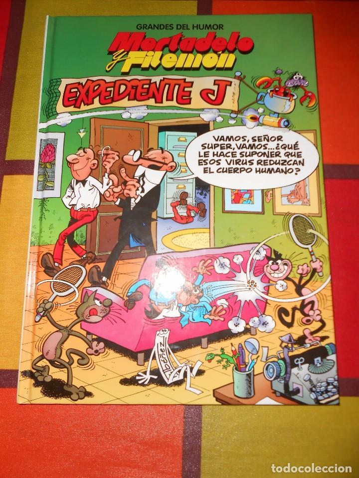 GRANDES DEL HUMOR-MORTADELO Y FILEMON -EXPEDIENTE J -TAPA DURA. (Tebeos y Comics - Ediciones B - Humor)