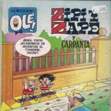 Cómics: COLECCIÓN OLE. ZIPI Y ZAPE Nº 190 . 1ª EDICIÓN. 1988. Lote 96007303