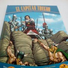 Cómics: BR EL CAPITÁN TRUENO, TAPA DURA, VÍCTOR MORA , DOS AVENTURAS COMPLETAS , HORDA DE AKBAR , LAS RUINAS. Lote 98843039