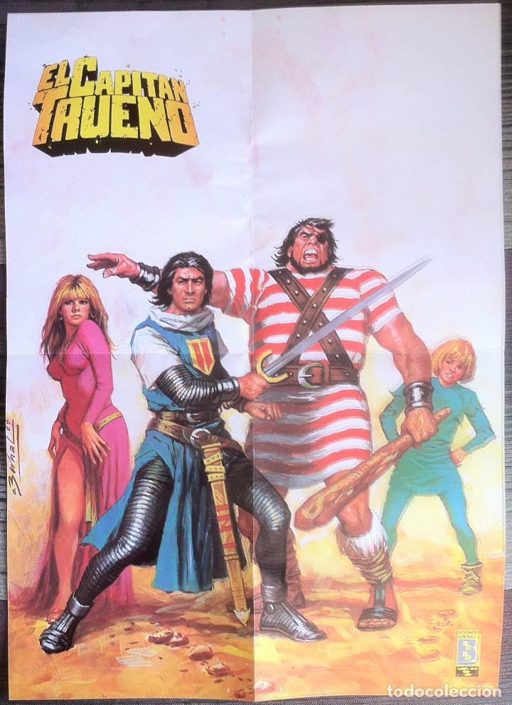 POSTER DE EL CAPITÁN TRUENO - EDICIONES B (Tebeos y Comics - Ediciones B - Clásicos Españoles)