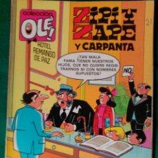 Cómics: ZIPI Y ZAPE Y CARPANTA Nº 231-Z8 - EDICIONES B 2ª EDICIÓN JUNIO 1987 - COLECCION OLÉ! . Lote 99931999