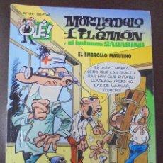 Cómics: MORTADELO Y FILEMON Y EL BOTONES SACARINO. Nº 110. EL EMBROLLO MATUTINO. Lote 208685337