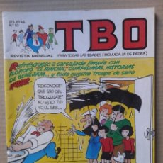 Cómics: TBO N° 53. REVISTA MENSUAL PARA TODAS LAS EDADES (INCLUIDA LA DE PIEDRA). EDICIONES B, 1992.. Lote 106706696