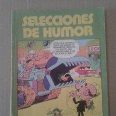 Cómics: SELECCIONES DE HUMOR, EDICIONES B. CON MORTADELO NÚMEROS 1 Y 2, PULGARCITO 1 Y 2 Y ZIPI Y ZAPE 1. Lote 107558179