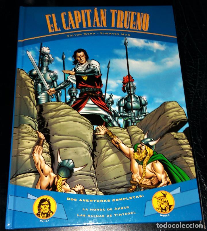 EL CAPITÁN TRUENO - LA HORDA DE AKBAR + LAS RUINAS DE TINTAGEL - VICTOR MORA FUENTES MAN 2000 (Tebeos y Comics - Ediciones B - Clásicos Españoles)