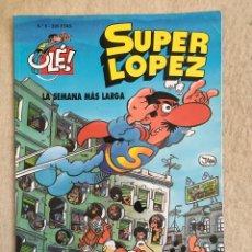Cómics: SUPER LOPEZ Nº 6 - FORMATO GRANDE CON PORTADA EN RELIEVE. Lote 112994487